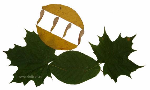 Осенняя поделка. Лодочка