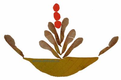Осенняя поделка. Маленький фонтан