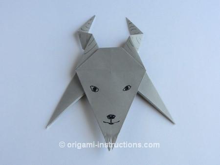 Барашек оригами схема