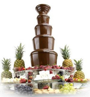 В Москве открылся шоколадный фонтан