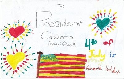 Дети рисовали для президента свои желания