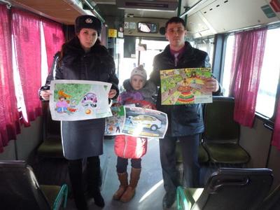 Липецкие автобусы дети украсили рисунками