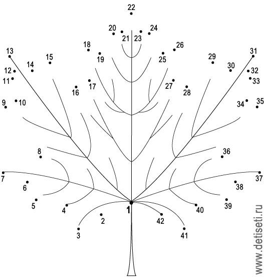 Кленовый лист (42 точки)