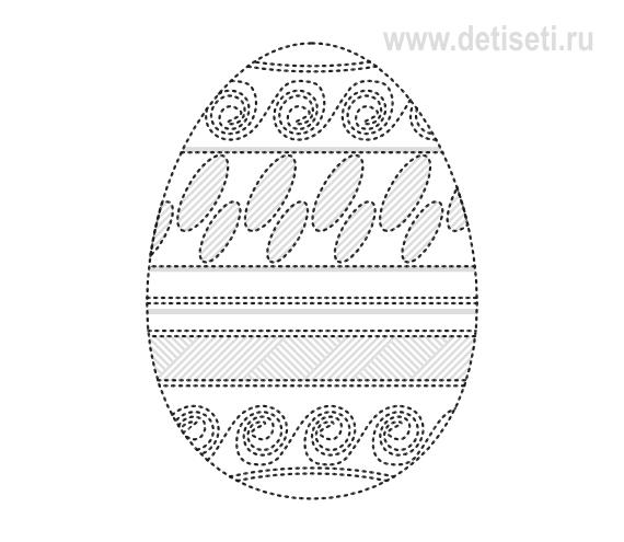Обводилки. Пасхальное яйцо 2