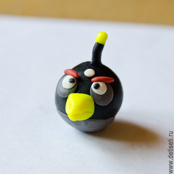 Angry Birds: Чёрная птичка (Бомба)
