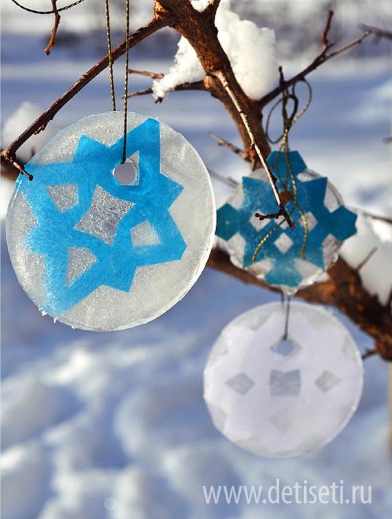 Ледяные диски - снежинки