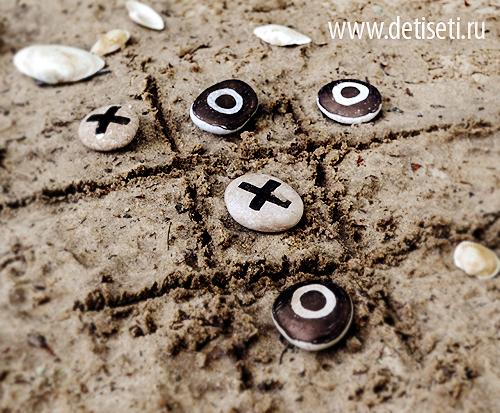 Крестики-Нолики из камешков