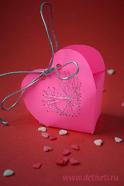 Упаковка в форме сердечка