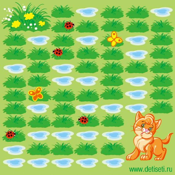 Котёнок и лужи