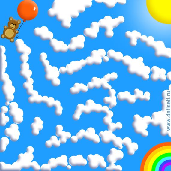 Мишка летит к радуге
