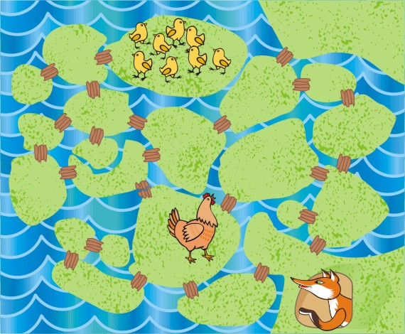 Цыплята на острове  (сложность - 3)