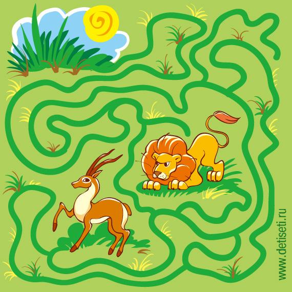 Лев и антилопа