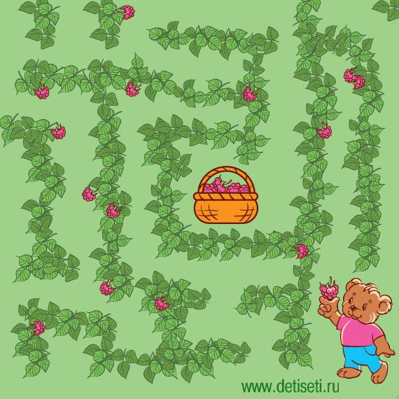 Медвежонок в малине