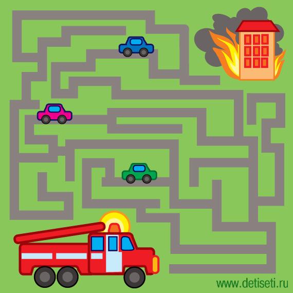 Пожарная машина в пути
