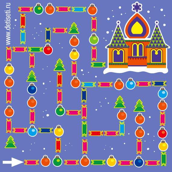 Путь к терему Деда Мороза