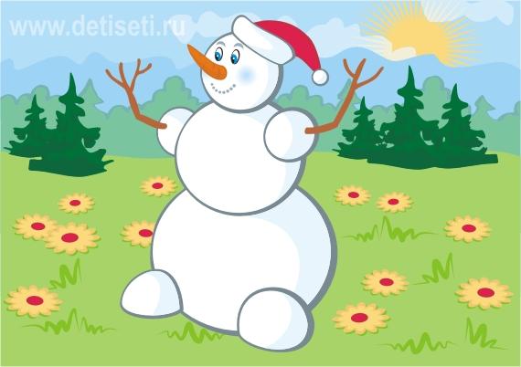 Соображалка. Снеговик на полянке