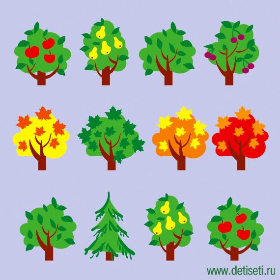 Деревья в ряд