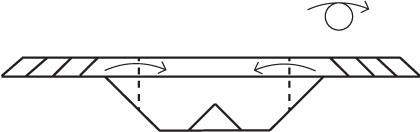 Согните изделие по пунктирным линиям