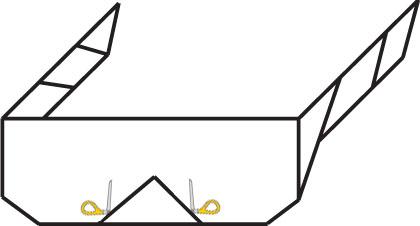 Вырежьте отогнутый треугольник
