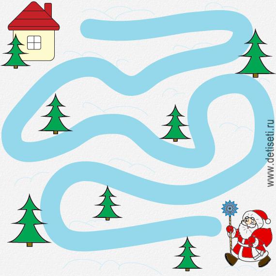 Дед Мороз несёт подарки