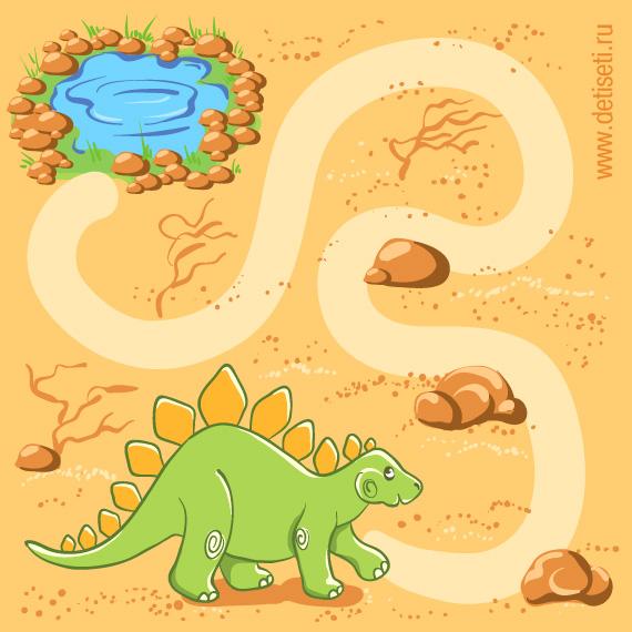Динозаврик в пустыне