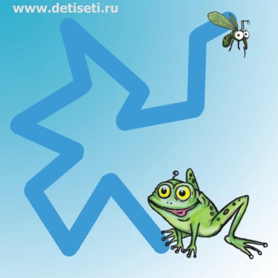 Лягушонок ловит комара