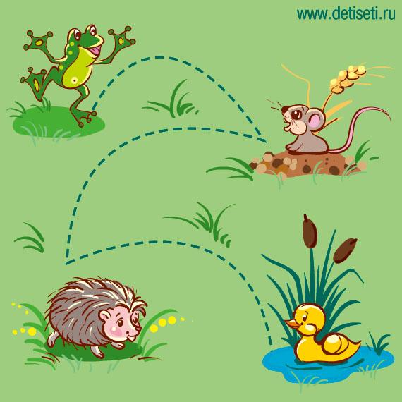 Лягушонок навещает друзей