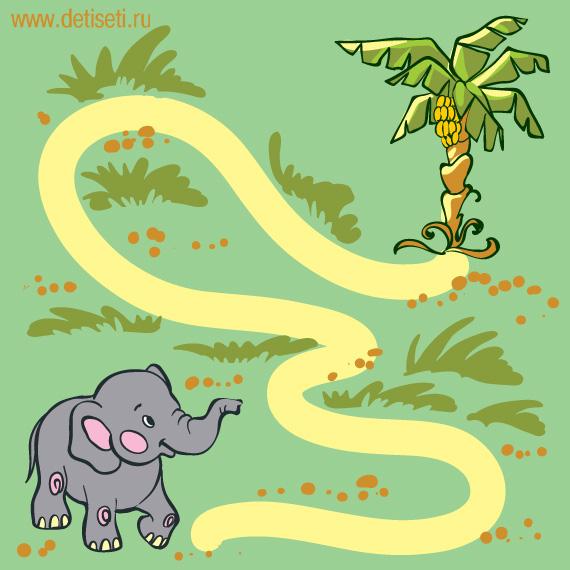 Слонёнок и бананы