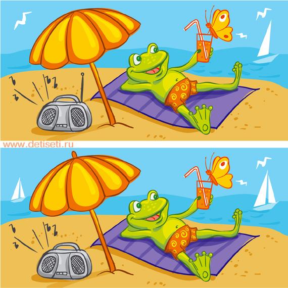 Лягушёнок на пляже