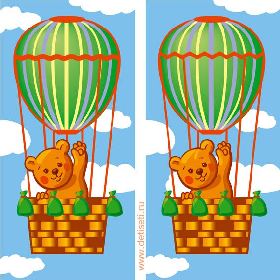 Медвежонок на воздушном шаре