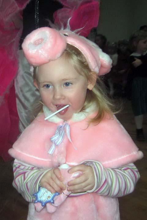 Свинка - розовое брюшко